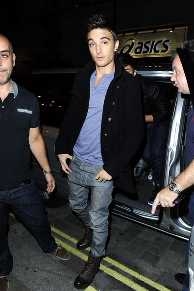 Tom from Boy Band 'The Wanted' attends the Lipsy party at Movida.