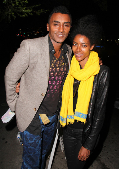 Marcus Samuelsson and Alice Eve Arrive at Chateau Marmont []