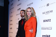 Friday 5, 2013. Sharon Stone and Martin Mica at the amfAR Inspiration Gala against AIDS in Sao Paulo, Brazil.