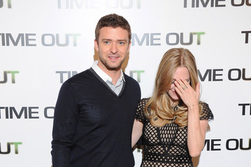 Justin Timberlake Amanda Seyfried Amanda Seyfried and Justin Timberlake in Paris for 'In Time'