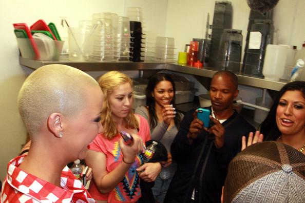 Amber Rose - Jamie Foxx and His Daughter at Millions of Milkshakes with Amber Rose