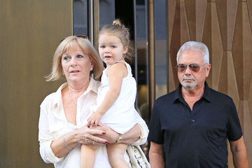 Anthony Adams Harper Beckham With Her Grandparents in NYC