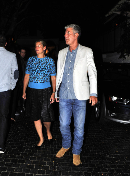 Former husband and wife couple: Anthony Bourdain and Nancy Potkosa