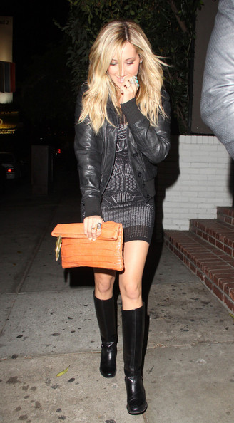 Ashley Tisdale Dines at the Chateau Marmont in LA