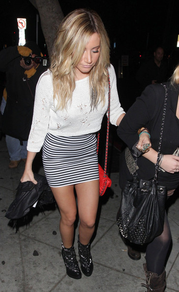 "Ashley Tisdale - Former ""High School Musical"" star Ashley Tisdale is spotted arriving at the Selena Gomez concert with a friend at the House Of Blues club in Los Angeles"