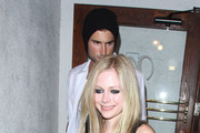"""Avril Lavigne and boyfriend Brody Jenner enjoy an evening together at Madeo's restaurant in West Hollywood. The """"Girlfriend"""" singer is set perform live on """"America's Got Talent"""" this week."""