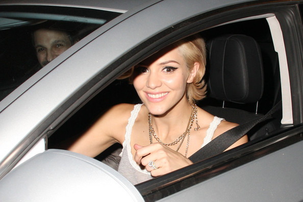 katharine mcphee blonde. Katharine McPhee is seen with