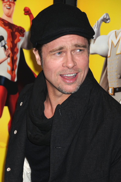"Brad Pitt attends the New York screening of his latest movie, ""Megamind 3D""."