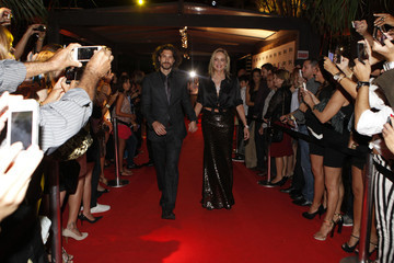 Brazil Sharon Stone with her boyfriend, Martin Mica attends a cocktail party in Santa Catarina, Rio de Janeiro
