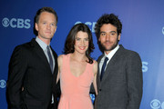 Neil Patrick Harris, Cobie Smulders and Josh Radnor at the 2010 CBS Upfronts, held at New York City's Lincoln Center.