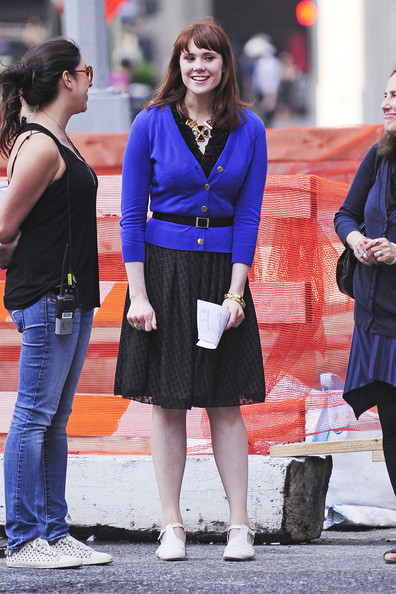 """British singer songwriter Kate Nash joins Shiloh Fernandez on the set of """"Syrup"""" in New York."""