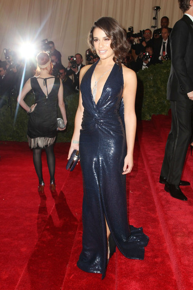 Lea Michele walks the red carpet at the Met Gala at the Metropolitan Museum of Art in NYC.