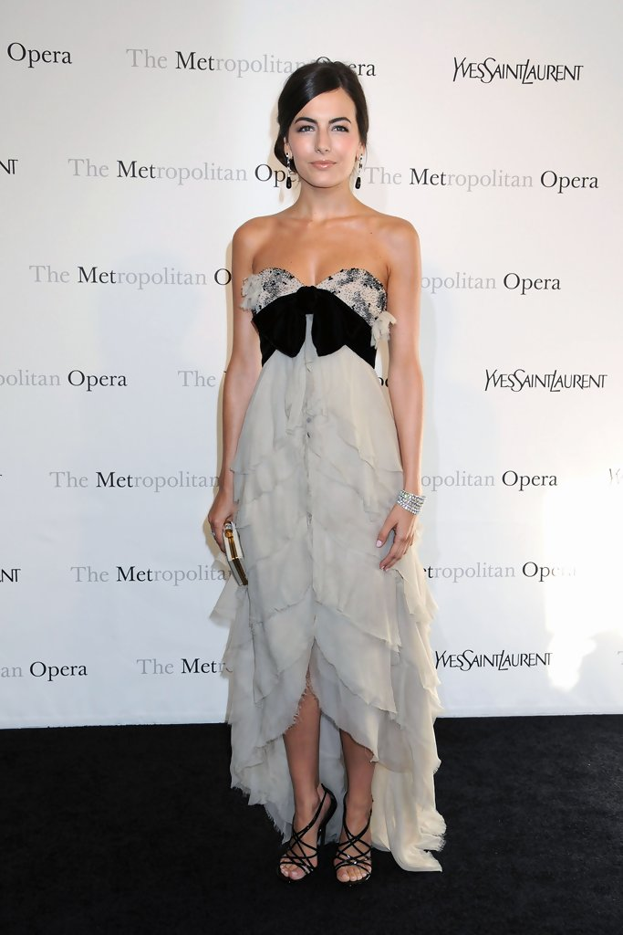 Camilla Belle at the Metropolitan Opera Gala Premiere of Armida at the Metropolitan Opera house in New York City.