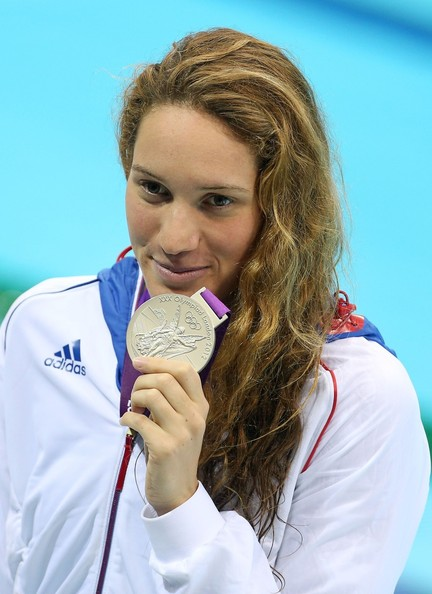 Camille Muffat Photos - French swimmer Camille Muffat seen winning.