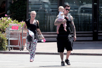 Carey Hart Pink and Family Out to Sushi