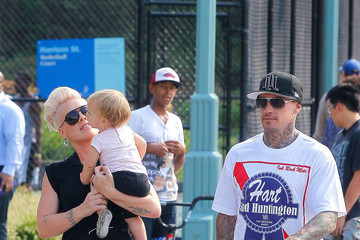 Carey Hart Pink and Carey Hart Out in NYC