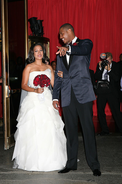 La La Vazquez and Carmelo Anthony - Lala Vazquez's Wedding at Cipriani in