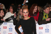 Kierston Wareing on the red carpet for the National Television Awards at the O2 Arena in London.