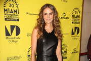 Actress Karen Martinez(wife of famous Colombian musician Juanes) at the premiere of 'The Trip 2' at the Miami Film Festival in Miami Beach.