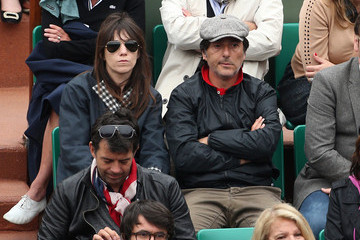 Charlotte Gainsbourg Yvan Attal Celebs Watch the French Open in Paris