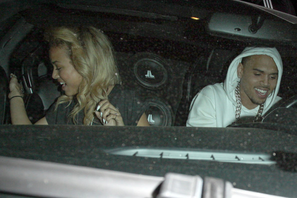 Chris Brown and Girlfriend Out Together in Hollywood []