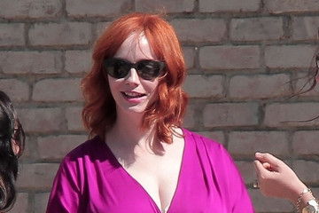 Christina Hendricks Christina Hendricks Leaves January Jones' Baby Shower