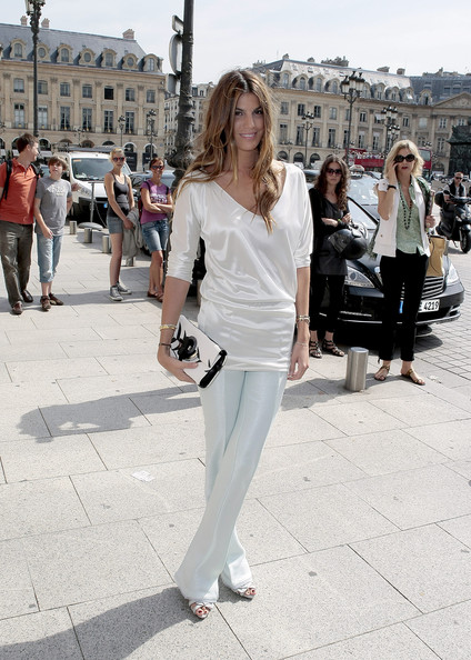 Bianca Brandolini Bianca Brandolini arrives at the Armani fashion show during fashion week in Paris.