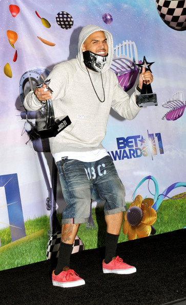 Chris+Brown in Chris Brown at the BET Awards
