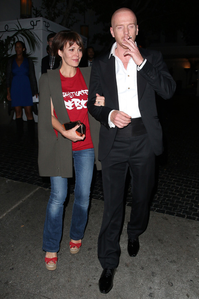 Damian Lewis Photos - Damian Lewis and His Wife Leave ...