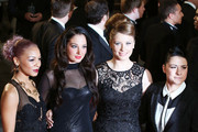 """Jade, Tulisa, Ella and Lucy at the World Premiere of the newest installment of the James Bond series, """"Skyfall"""" held at the Royal Albert Hall in London."""