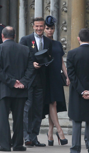 victoria beckham at royal wedding. arriving for the Royal Wedding