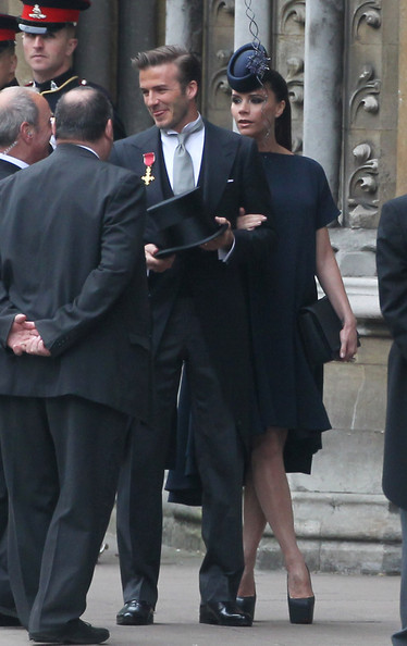 victoria beckham royal wedding. David and Victoria Beckham