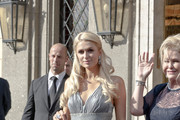 Paris Hilton and mom Kathy leaves their hotel attend the lavish wedding of heiress Petra Ecclestone to James Stunt at the Castello Odeschalchi di Bracciano - the same venue where Tom Cruise married Katie Homes. Eric Clapton and the Black Eyed Peas entertained the guests following the happy couple's union.