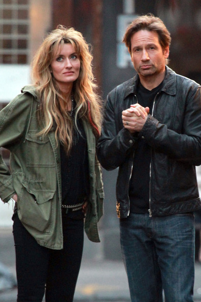 """David Duchovny Films """"Californication"""" in the West Village"""