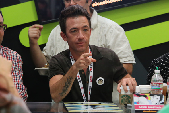 David Faustino greets his fans at 'The Legend of Korra' booth during ...