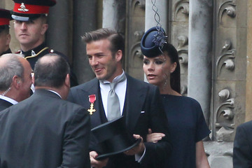 David Beckham Prince William David and Victoria Beckham Arrive at Westminster Abbey for the Royal Wedding