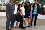 "Tory Kittles, director Wayne Blair, Miranda Tapsell, Deborah Mailman, Shari Sebbens, Jessica Mauboy, and Chris O'Dowd at a photocall for ""The Sapphires"" at the Cannes Film Festival 2012."