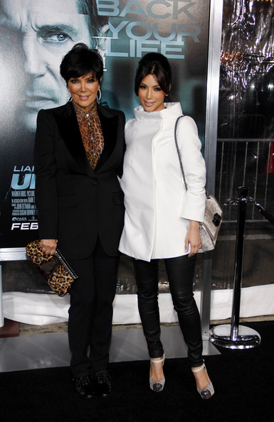 "Kim Kardashian and Kris Jenner at the Los Angeles premiere of ""Unknown"" held at the Regency Village Theatre, Los Angeles."