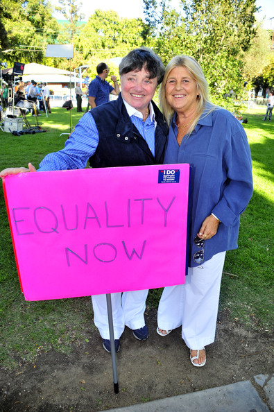 Diane Olson Robin Tyler and Diane Olson at a gay-rights rally in West ...