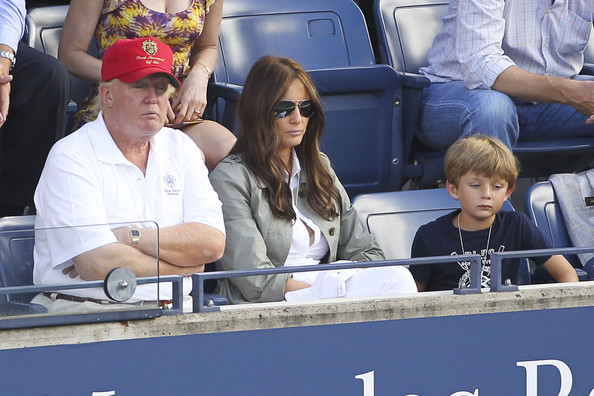... in this photo donald trump melania trump barron trump donald trump