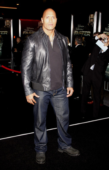 "Dwayne Johnson poses for photographs at the Los Angeles premiere of his new film ""Faster"", held at the Grauman's Chinese Theater, Los Angeles."