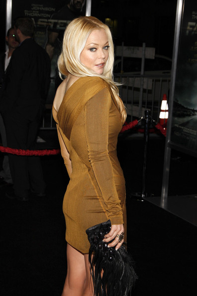 "Charlotte Ross poses for photographs at the Los Angeles premiere of the new film ""Faster"", held at the Grauman's Chinese Theater, Los Angeles."