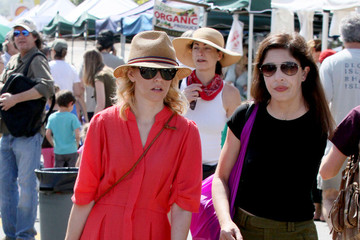 Max Handelman Elizabeth Banks spends the day shopping at the Farmer's Market with her husband Max and baby son Felix