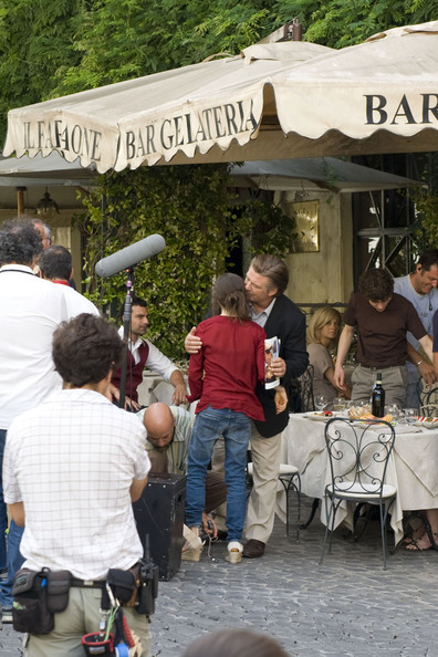 "Ellen Page, Alec Baldwin and Jesse Eisenberg on the set of Woody Allen's latest movie, ""Bop Decameron"" currently filming in Rome, Italy."