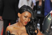 Caroline Chikezie attending the UK Premiere of 'The Sweeney' held at the Vue Cinema in Leicester Square, London.
