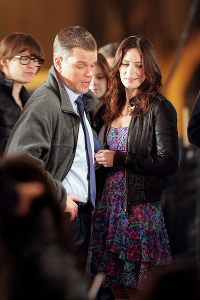 Emily Blunt and Matt Damon spotted on the set of their new movie,
