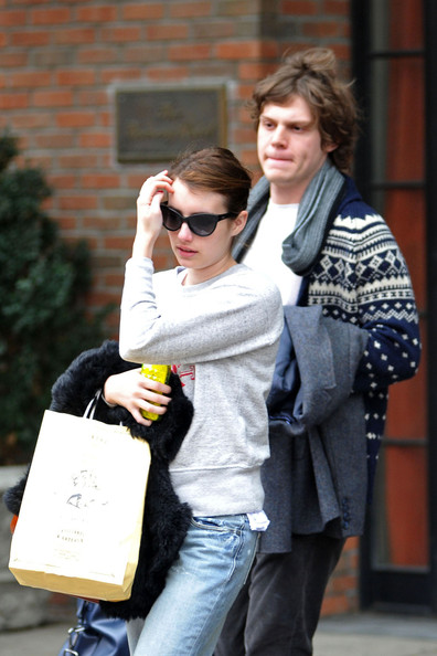 emma roberts and evan peters out together   zimbio