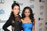 Nina Dobrev and Kat Graham attend The Ripple Effect Benefiting the Water Project at Sunset Luxe Hotel.