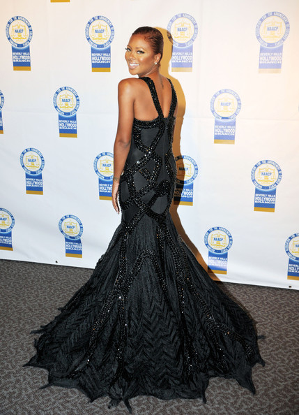 Eva Marcille - Eva Marcille and Shoshana Bean attending the 22nd Annual NAACP Theatre Awards at the Directors Guild of America in Los Angeles