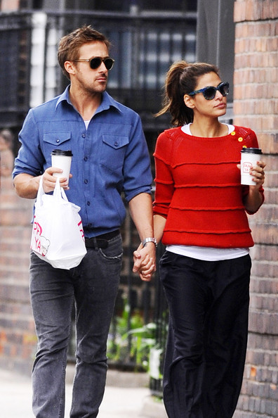 Eva Mendes - Ryan Gosling and Eva Mendes Together in NYC